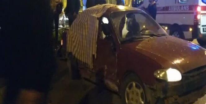 Cip ile otomobil çarpıştı: 1 ölü, 2 yaralı