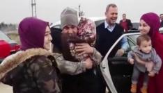 Mehmetçiğin ailesiyle duygulandıran buluşması