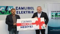 CK Çamlıbel Elektrikten tasarruf yapan ailelere bedava elektrik