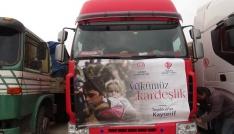 Suriyeye 24 tırlık gıda yardımı