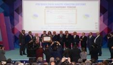 Ahi Evran Üniversitesine ISO 9001: 2015 kalite yönetim belgesi verildi