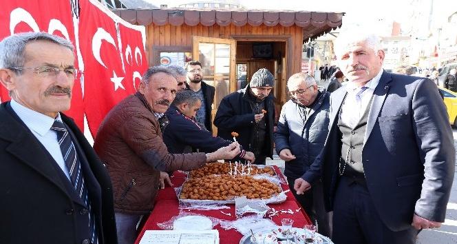 MHP Gümüşhanede Afrin şehitleri için lokma dağıttı