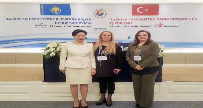 Edirne KGK Türkiye-Kazakistan Kadın Girişimciler İş Forumuna katıldı