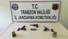 Trabzonda kaçak silah operasyonu