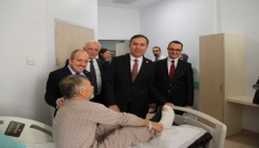 AK Partiden hastane ziyareti