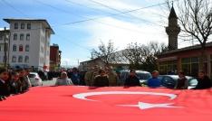 Altınyaylada Zeytin Dalı Harekatına destek yürüyüşü