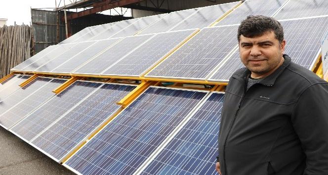 (Özel haber) Kahramanmaraşlı girişimci mobil güneş enerji santrali üretti