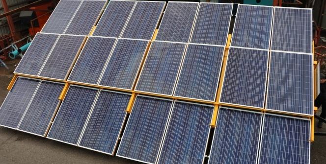 Kahramanmaraşlı girişimci mobil güneş enerji santrali üretti