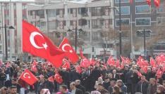 Sivasta Zeytin Dalı Harekatına destek yürüyüşü
