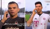 Pepe ve Negredodan Lewandowskiye telefon