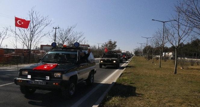 Offroadculardan Mehmetçiğe destek konvoyu
