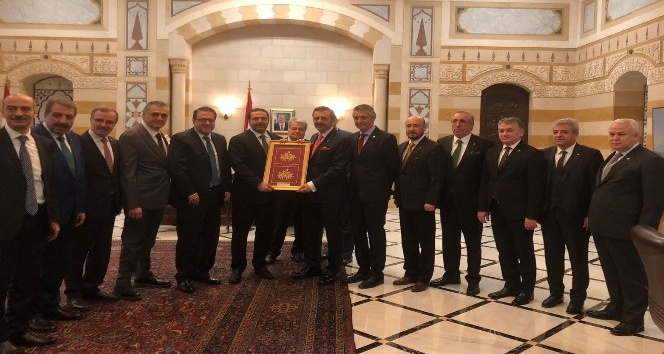 KMTSO Başkanı Serdar Zabun Lübnanda