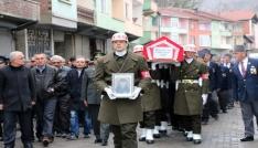 Kore gazisi askeri törenle son yolculuğuna uğurlandı
