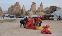 Kapadokya'da balon uçuşları iptal edildi |Nevşehir haberleri