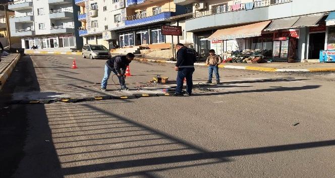 Şırnak şehiriçi trafik uyarı levhası uygulaması yapıldı