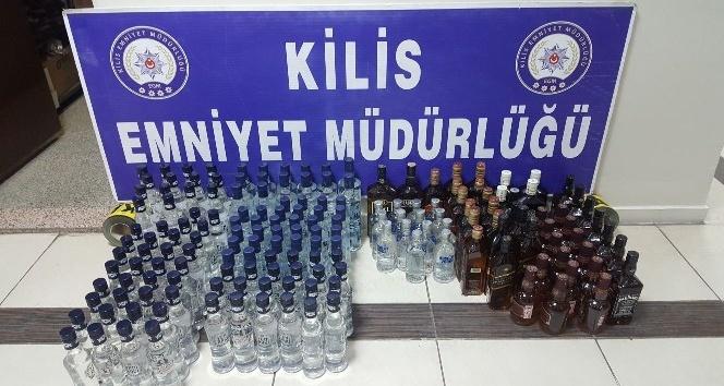 173 kaçak içki ele geçirildi