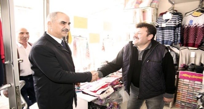 Başkan Aydın, esnaf gezilerini sürdürüyor