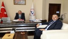 Başkan Cabbar ERÜ Rektörü Muhammet Güveni ziyaret etti