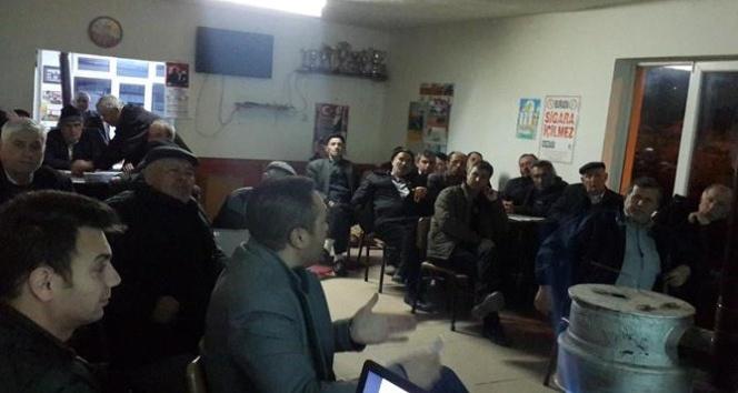 """Gece eğitimleri kapsamında çiftçilere """"Arazi Toplulaştırması"""" anlatıldı"""