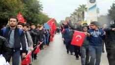 Antalyada ülkücü gençler, Fırat Yılmaz Çakıroğlu için yürüdü