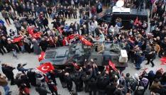 Mehmetçik binlerce vatandaş tarafından Afrine uğurlandı