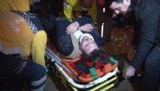 Başkentte personel servisi devrildi: 3 yaralı