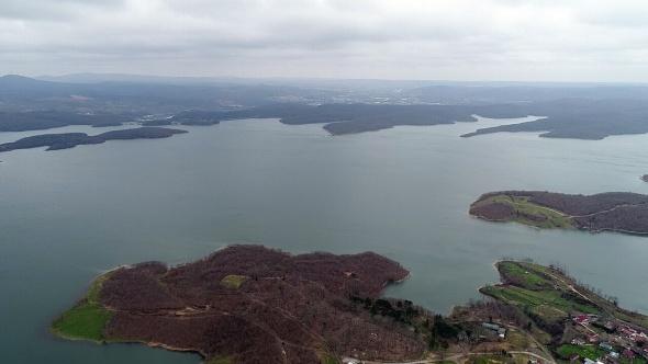 İstanbul barajlarındaki doluluk oranı havadan görüntülendi