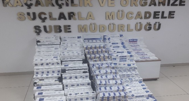 Çorumda 3.340 paket kaçak sigara ele geçirildi