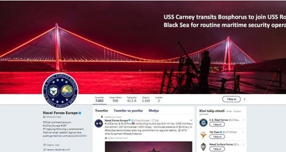 ABD Donanmasından '3. köprü' paylaşımı