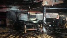 Alanyada işyeri yangını korkuttu