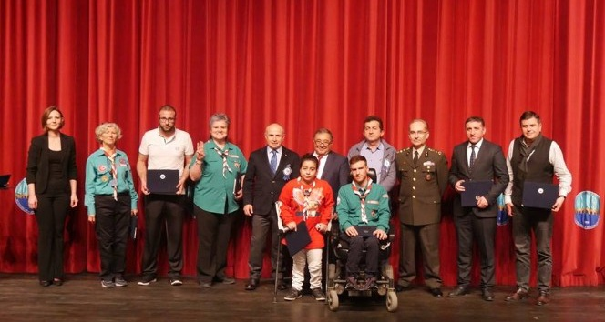 Türkiyede ilk ve tek olan Gökkuşağı Engelli İzci Grubu, Dünya İzci Düşünce Gününü kutladı