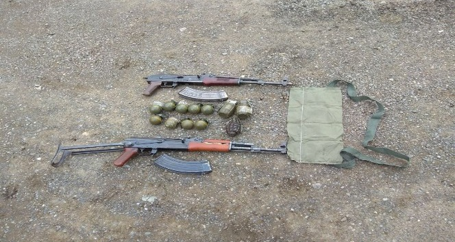 Şırnakta silah ve el bombası ele geçirildi