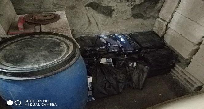 Karsta 990 paket kaçak sigara yakalandı