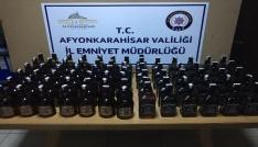Çayda 73 şişe kaçak viski ele geçirildi