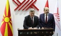 Makedonya Cumhurbaşkanı Ivanov'dan YÖK'e ziyaret