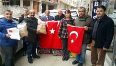 Afrinde savaşan Mehmetçiğe Sinoptan fındık
