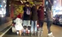 Patenli gençlerin tehlikeli yolcuğu kamerada