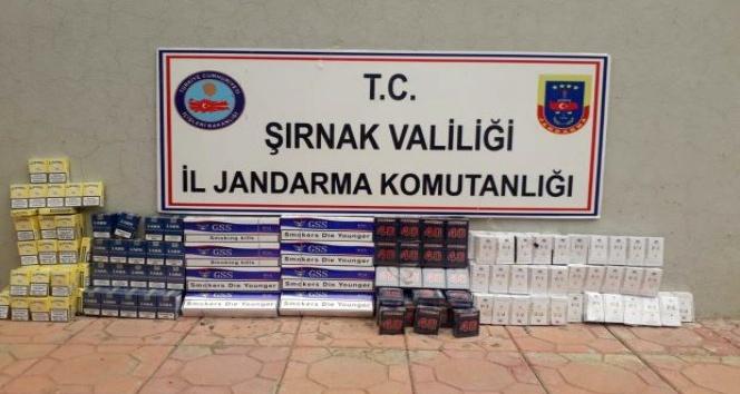 Şırnakta 3 bin 350 paket kaçak sigara ele geçirildi