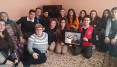 Öğrenciler şehit ailesini ziyaret etti