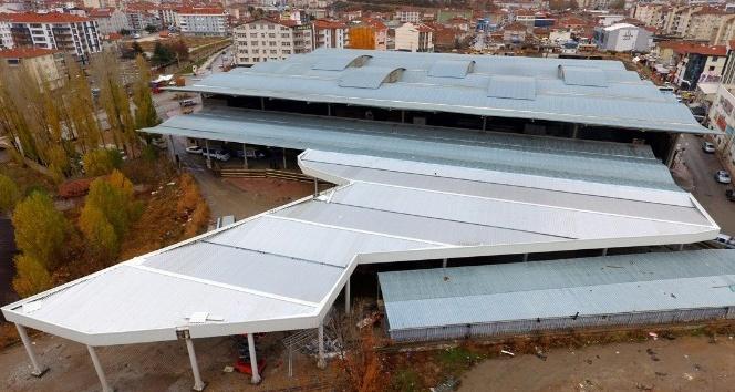 Kırşehirde köy pazarı yapımı tamamlandı