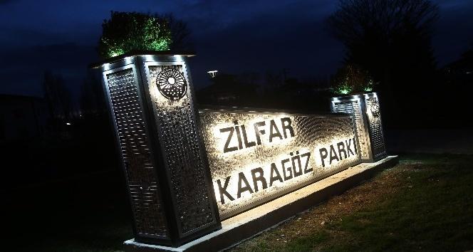 Gölbaşında parklara dekoratif isim tabelası yapıldı