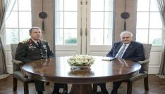 Başbakan Yıldırım, Genelkurmay Başkanı Akar ve MİT Müsteşarı Fidanı kabul etti