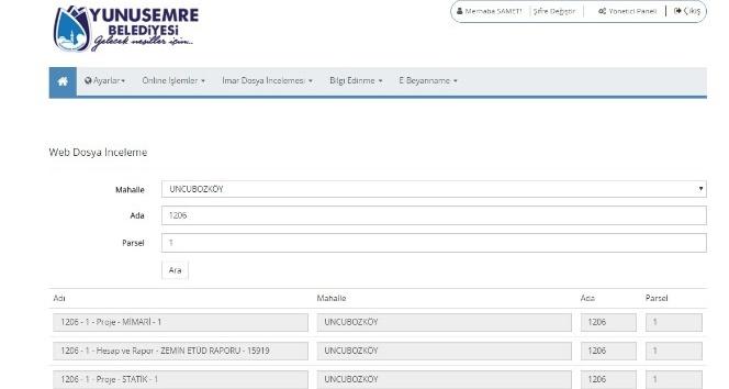 Yunusemrede imar arşivi web sitesine eklendi