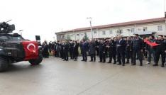 Batmanda Polis Özel Harekat timleri dualarla Afrine uğurlandı