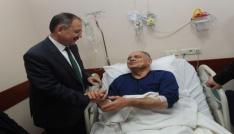Özhasekiden saldırıya uğrayan belediye başkanına ziyaret