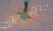 TSK: Afrinde teröristlere silah ve mühimmat taşıyan konvoy vuruldu