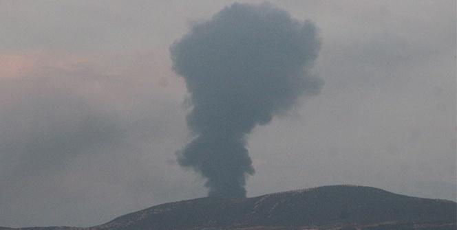 Afrin'de teröristlere ait petrol rafinerisi vurularak imha edildi