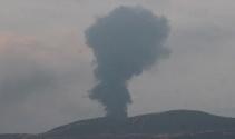 Afrinde teröristlere ait petrol rafinerisi vurularak imha edildi