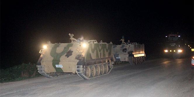 Hatay'daki sınır birliklerine tank sevkiyatı sürüyor