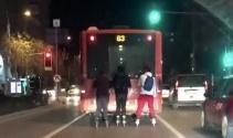 Patenci çocukların trafikte tehlikeli yolculuğu